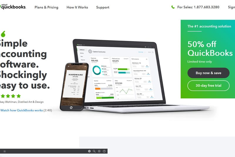 The QuickBooks real-time link means data is entered once only. Customer data, invoice, payments are automatically copied to your QuickBooks program