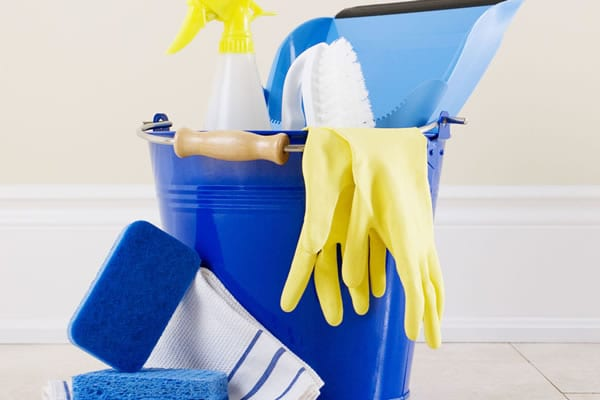 Bucket and mop - tools for maid service business and residential cleaning businesses