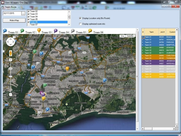 More mapping capabilities. You can view all jobs on a map. Jobs shown using pushpins.